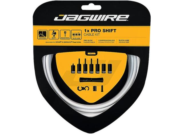 Jagwire 1X Pro Shift Set de câble de dérailleur, white